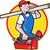 plombier · pipe · boîte · à · outils · cartoon · illustration - photo stock © patrimonio