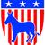 demokrat · eşek · 3d · render · boyalı · simge · demokratik - stok fotoğraf © patrimonio