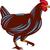 chicken hen walking side woodcut stock photo © patrimonio