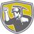 coal miner clenched fist pick axe shield retro stock photo © patrimonio