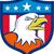 american bald eagle head angry flag crest cartoon stock photo © patrimonio