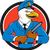 bald eagle policeman baton circle cartoon stock photo © patrimonio