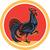 chicken rooster marching walking circle retro stock photo © patrimonio