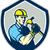 builder carpenter holding hammer shield retro stock photo © patrimonio