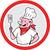 pig chef cook holding spatula circle cartoon stock photo © patrimonio
