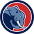 angry elephant head side circle cartoon stock photo © patrimonio
