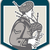 scotsman bagpiper playing bagpipes crest retro stock photo © patrimonio