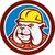 bulldog construction worker head cartoon stock photo © patrimonio