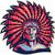 őslakos · amerikai · indián · illusztráció · férfi · természet · sziluett - stock fotó © patrimonio