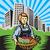 作り出す · 野菜 · 女性 · 人参 · 孤立した - ストックフォト © patrimonio