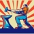 smid · werknemer · hamer · aambeeld · illustratie · mannelijke - stockfoto © patrimonio
