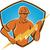 villanyszerelő · építőmunkás · villám · illusztráció · karok · összehajtva - stock fotó © patrimonio