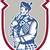 scotsman bagpiper playing bagpipes shield stock photo © patrimonio