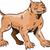 pitbull dog mongrel standing etching stock photo © patrimonio