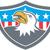 american bald eagle head flag shield cartoon stock photo © patrimonio