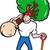 ogrodnik · łopata · szczęśliwy · mężczyzna · biały - zdjęcia stock © patrimonio