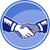 handshake black white woodcut circle stock photo © patrimonio