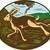 wild hare rabbit running oval woodcut stock photo © patrimonio