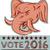 vote 2016 republican elephant mascot head etching stock photo © patrimonio