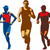 triathlete marathon front collection retro stock photo © patrimonio