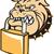 bulldog · hond · hoofd · mascotte · illustratie · retro - stockfoto © patrimonio