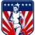 marathon runner shield stock photo © patrimonio