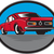 マッスルカー · アメリカン · 道路 · 赤 · 水平な - ストックフォト © patrimonio