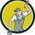 house painter paintbrush paint bucket circle cartoon stock photo © patrimonio