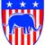 republicano · elefante · mascote · EUA · bandeira · ilustração - foto stock © patrimonio
