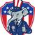 republicano · elefante · isolado · branco · festa · estrela - foto stock © patrimonio