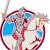 knight riding horse sword circle cartoon stock photo © patrimonio