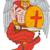 天使 · セット · 孤立した · 白 · 赤 · 人形 - ストックフォト © patrimonio