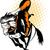 rodeo · cowboy · jazda · konna · w · stylu · retro · ilustracja · plakat - zdjęcia stock © patrimonio