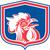 chicken rooster head mascot shield retro stock photo © patrimonio