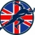koşucu · başlatmak · İngiliz · bayrağı · kalkan · Retro · örnek - stok fotoğraf © patrimonio