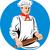 мужчины · повар · скалка · помощник · смотрят · кухне - Сток-фото © patrimonio