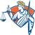 dame · yeux · bandés · échelles · justice · illustration - photo stock © patrimonio