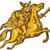 valkyrie warrior riding horse sword etching stock photo © patrimonio