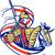 english knight england flag shield horse retro stock photo © patrimonio