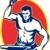 herrero · martillo · estilo · retro · ilustración · frente · establecer - foto stock © patrimonio