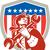 mechanic american patriot holding spanner shield stock photo © patrimonio