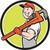 plumber smiling holding monkey wrench circle cartoon stock photo © patrimonio