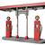 retro · piros · benzinpumpa · izolált · fehér · üzlet - stock fotó © paulfleet