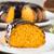 bolo · de · cenoura · chocolate · fatia · tabela · fundo · bolo - foto stock © paulovilela
