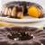 bolo · de · cenoura · chocolate · fatia · tabela · textura · bolo - foto stock © paulovilela