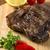 grillezett · hús · borda · fehér · tányér · paradicsomok · snidling - stock fotó © paulovilela