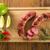 carne · alla · griglia · salsicce · patate · pomodori · alla · griglia · grill - foto d'archivio © paulovilela