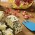 schimmelkaas · houten · heerlijk · voedsel · achtergrond · Blauw - stockfoto © paulovilela