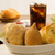 mixed brazilian deep fried chicken snack esfihas and pastry stock photo © paulovilela