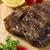 carne · grelhada · costelas · branco · prato · tomates · cebolinha - foto stock © paulovilela